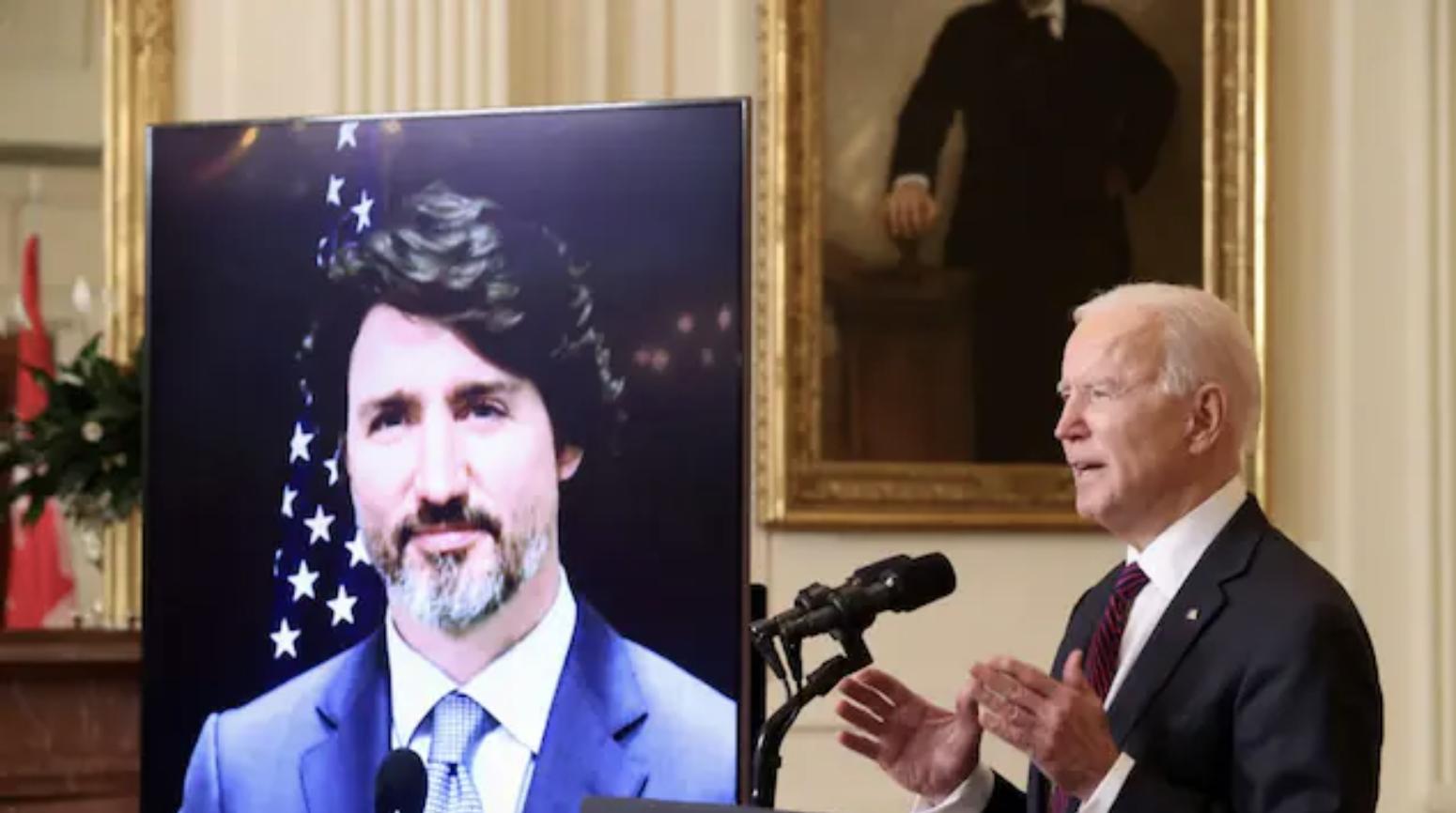 You are currently viewing رئيس الحكومة ترودو والرئيس الأميركي بايدن يبحثان في عدد من القضايا الثنائيّة